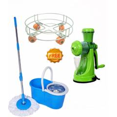 Navisha Assorted Steel Mop with Free Juicer & Gas Trolley, MOP0594