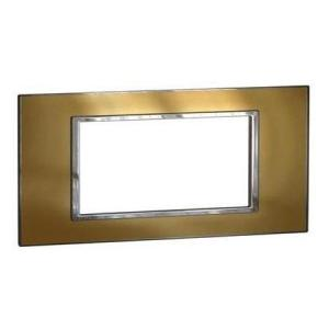 Legrand Arteor Metal Finish Cover Plates With Frame Gold Brass Plate, 5763 50
