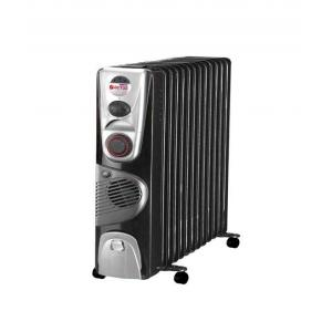 Orient 2900W 13 Fin Black & Silver Oil Filled Radiator with Fan and Timer, OF1301F