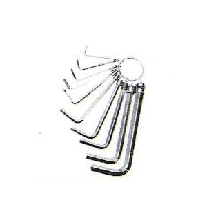 GE Tech Hex Key In Ring Set, (Size: 1.5-10 mm)