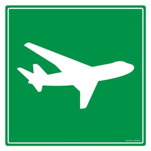 Safety Sign Store Airport Sign Board, TR269-600DG-01