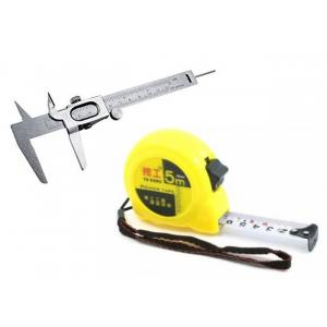 Bizinto Iron Vernier Caliper with Free 5m Flexible Metric Measuring Tape