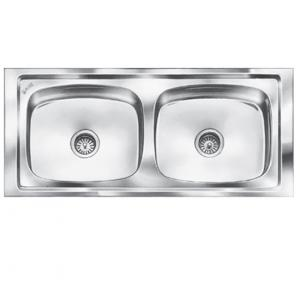 SteelKraft DS-119 Double Bowl Stainless Steel Sink, Size: 16x14 inch