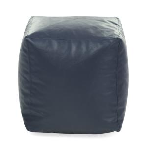 Style Homez Grey Ottoman Stool Square Bean Bag Cover, Size: L