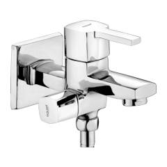Eauset Nore Single Lever Two-way Bibcock in double control system with Wall Flange, FNO022