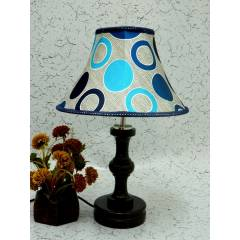 Tucasa Fabulous Wooden Table Lamp with Poly Silk Shade 5, LG-1043