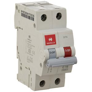 Havells EURO-II 40A C Curve SP MCB, DHMGCSNF040 (Pack of 6)