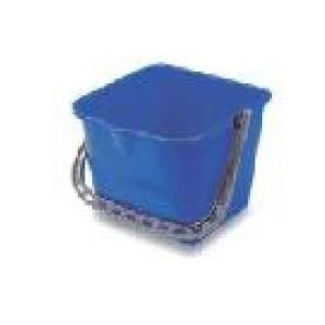 Amsse PSB 15 1001 15L Blue Plastic Square Bucket with Measurements
