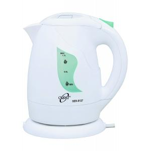 Orpat 1 Litre White & Green Cordless Kettle, OEK-8127, Power: 850 W