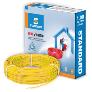 Standard 1.5 Sq mm 90m Yellow PVC FR Wire, WSFFDNYA11X5