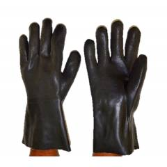 Frontier Black 10 inch Rubber Safety Gloves (Pack of 10)