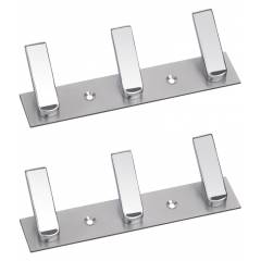 Abyss ABDY-0172 Chrome Finish Stainless Steel Multipurpose Hanger (Pack of 2)