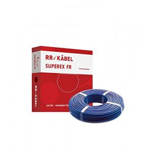 RR Kabel Superex-FR 2.5 Sq mm Blue PVC Insulated Cable, Length: 90 m