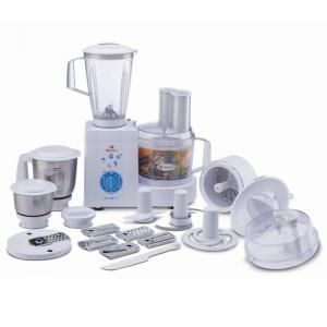 Bajaj 600W Masterchef 3.0 White Food Processor with 15 Attachments