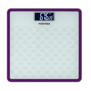 Pointrek POI-127 Square Brown Electronic Digital LCD Personal Body Fitness Weighing Scale