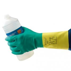 Ansell Bi-Colour Latex Neoprene Safety Gloves, HNPAN-87-9009, Size: 9 Inch (Pack of 2)