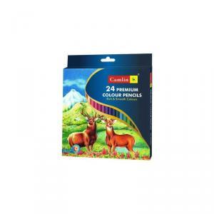 Camlin Premium 24 Shade Full Size Colour Pencil, 4194524