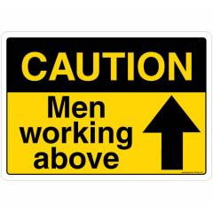 Safety Sign Store Caution: Men Working Above Sign Board, SS246-A3AL-01