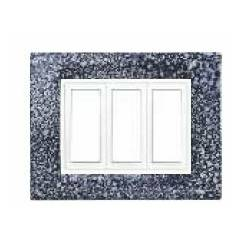 Benlo 16 Module Grey Granite Vesta Combination Plates, BS S1909 (Pack of 5)