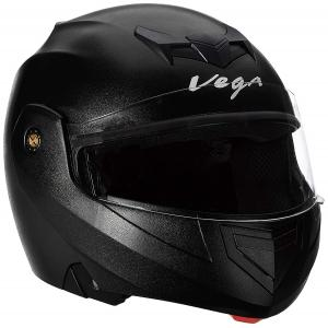 Virgo Airzed Full Face Silver Glossy Tinted Helmet, Size (Medium, 58 cm)