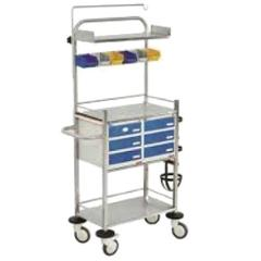 Wellton Healthcare Powder Coated Crash Cart Trolley, WH1168