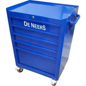 De Neers 1070x675x500mm 7 Drawer Tools Trolley