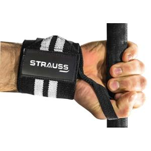 Strauss Black Cotton Weight Lifting Gym Support with Thumb Support, ST-1296