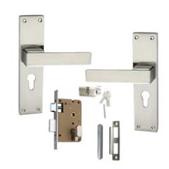 Atom O-32 Stain Finish Cylindrical Mortise Lock Set With 3 Brass Keys