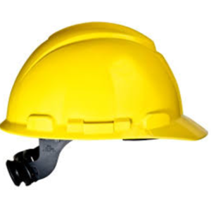3M H-402R 4 PT Yellow Unvented Ratchet Safety Helmet (Pack of 10)