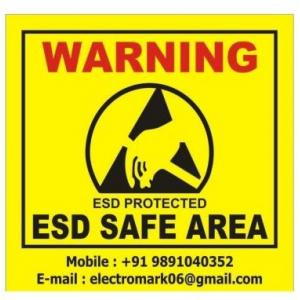 Electromark Caution Sign Board (Pack of 2)
