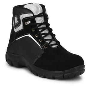 Kavacha S27 Black Steel Toe Safety Shoes, Size: 10
