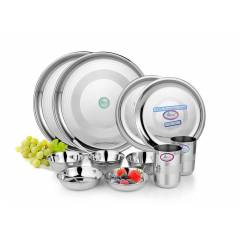 Airan 14 Pieces Stainless Steel Glossy Duet Set, AIR1043