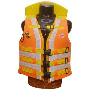 Karma Art KA-117 Deluxe Sports Life Jacket With Wing, Colour: Orange & Yellow