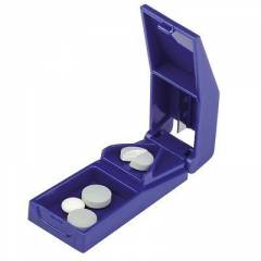 Medigold Portable Tablet Pill Cutter with Medicine Capsule Holder Box