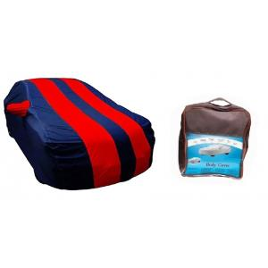 Cartronics Blue & Red Car Cover for Maruti Suzuki Alto K10 Old (2010-14)