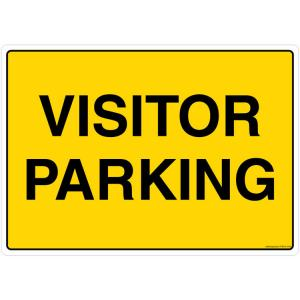 Safety Sign Store Visitor Parking Sign Board, FS516-A4PC-01