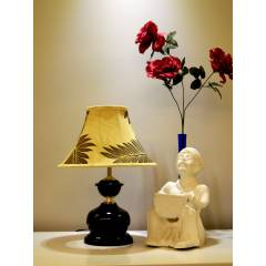 Tucasa Table Lamp with Poly Silk Shade, LG-440, Weight: 450 g