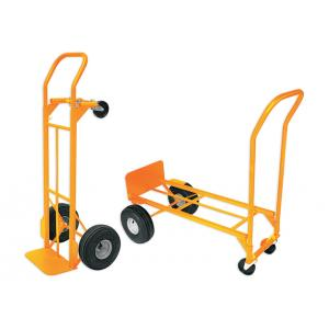 Akar Convertible Four Wheel Drive Hand Truck with Pneumatic Solid Wheel Guard, Capacity: 250 kg