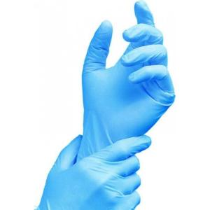 Rensow Blue Powder Free Latex Examination Gloves, REN-BLU-03 (Pack of 100)