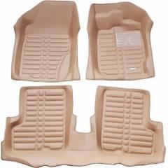 Oscar 5D Beige Foot Mat For Skoda Octavia 2005-2008 Set