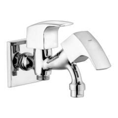 Eauset Torsha Single Lever Two-way Bibcock in double control system with Wall Flange, FTO022
