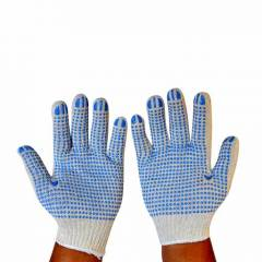 Gripwell 50g Premium Blue PVC Dotted Gloves (Pack of 100)