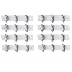 SmartShophar 6 Inch 3 Legs Stainless Steel Silver Simply Wall Hook (Pack of 8), 54619-SHKS-SL06-P8