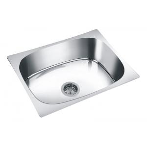 Deepali Single Bowl Kitchen Sink, DR 108A, Overall Size: 20x17x8 Inch