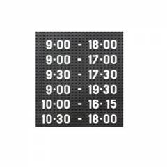 Asian 900x1200 mm Perforated Black Dotted Board