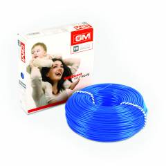 GM 6 Sq mm 90m Blue FR Modular Wire, 7006