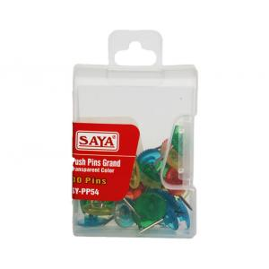 Saya Push Pins- Round -Transparent Colors, Dimensions: 155 x 105 x 75 mm (Pack of 12)