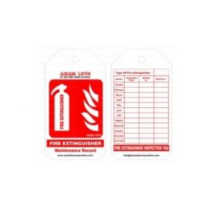 Asian Loto Fire Extinguisher Red Tag for safety, ALC-FET (Pack of 10)