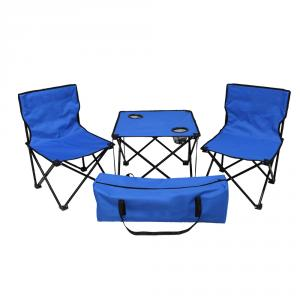 Kawachi Blue Folding Table & Chair Set, K357
