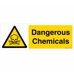 Safety Sign Store Dangerous Chemical Sign Board, CW103-1029V-01